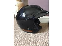 Harley Davidson Half Helmet. Size L 60. Wear with or with visor, has removable peak.