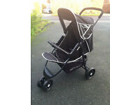 ONE ONLY LEFT! EXDISPLAY HAUCK CITI FABULOUS LIGHTWEIGHT FLAT FOLD PRAM PUSHCHAIR BUGGY FROM BIRTH