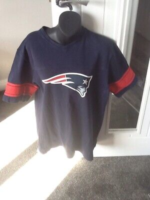 New England Patriots NFL Football Top, By New Era Navy Size M