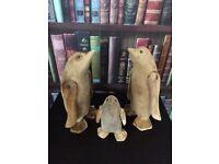 Handcarved Wooden Penguin Famiky