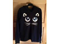 Karl Lagerfeld hooded sweatshirt with cat ears