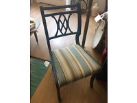 Stunning Painted and Re-Upholstered Chair