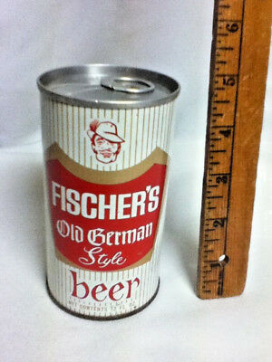 Fischers Old Style German Beer Old Vintage Metal Can 12 Oz  4 75  Florida Bh8