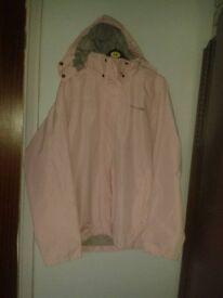 Trespass pink waterproof windproof jacket