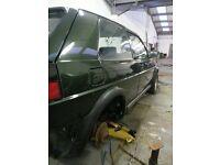 90 spec golf gti 3 door shell oak green project car