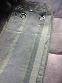 Lilac / green/ grey stripe curtains from next needs uplifted