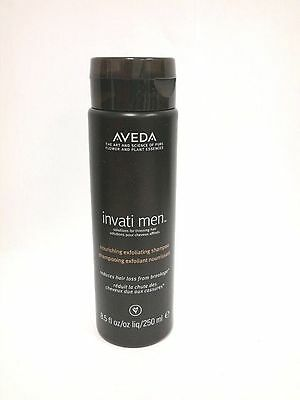AVEDA INVATI MEN NOURISHING EXFOLIATING SHAMPOO HAIR NEW & FRESH 8.5 oz