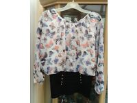 Butterfly batwing top