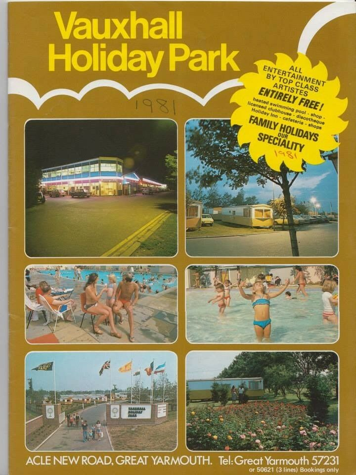 Vauxhall Holiday Park Great Yarmouth Old Brochures 70 S 80 S