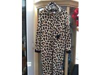 Lady's leopard print onesie
