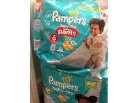 Pampers 6+ and pampers pants 6