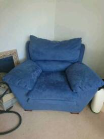 Comfy blue armchair