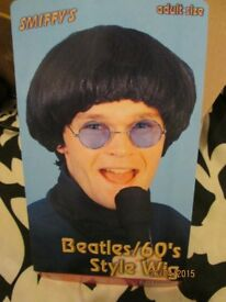 60s BEATLES / MOD FANCY DRESS WIG PARTY OR STAG DO ALSO HAVE OUTFIT FOR SALE
