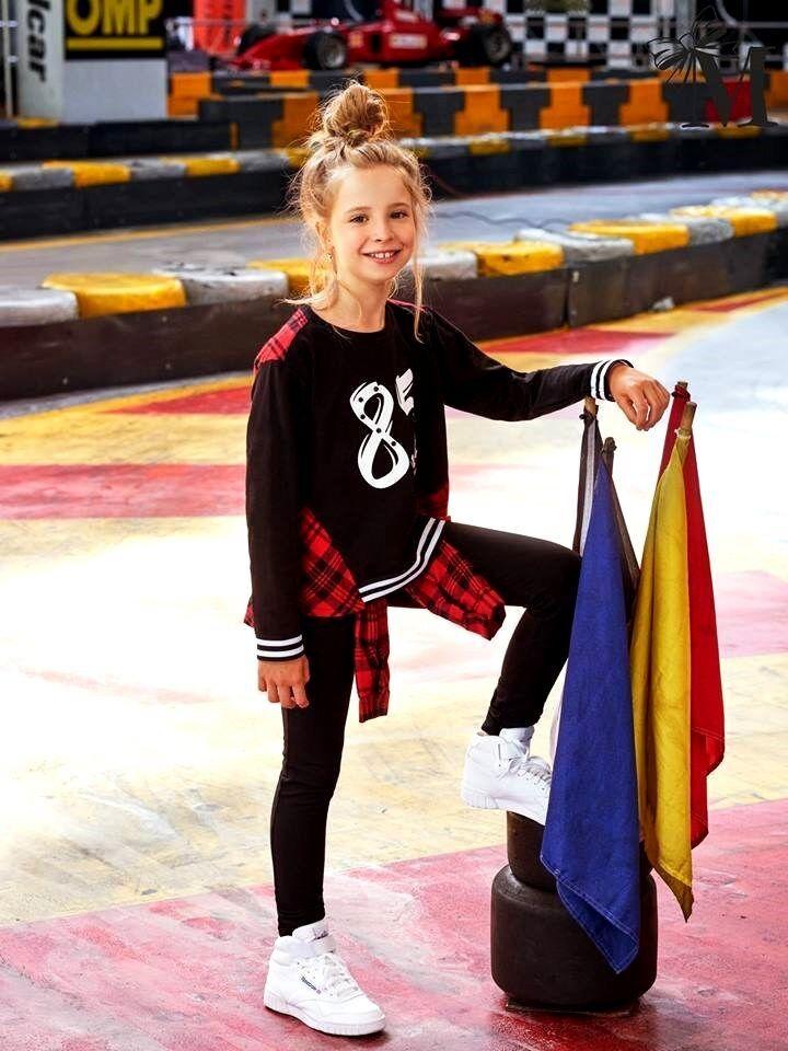 Mädchen Set Traininganzug Sportanzug Schulkleid Kinder MalaMi Neu Schwarz Rot