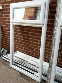 Pilkington K Double Glazed White Window Unit. Top Lockable Section. Approx 1m48(h) x 88.5cm (w)