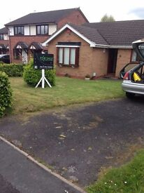 Detached bungalow, 2 good sized bedrooms. Gas central heating, Large gardens.