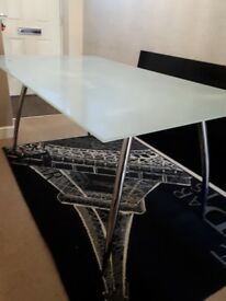 Glass Top Large Table
