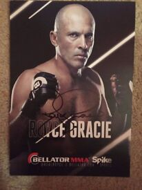 Royce Gracie Signed Photo From Bellator