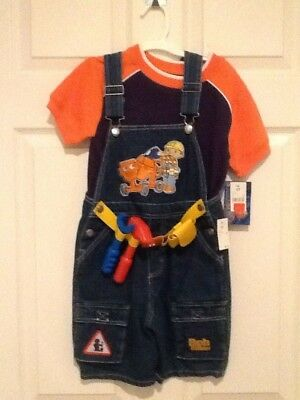 NWT 5t Bob the Builder bibs overalls Halloween costume - Bob Builder Halloween Costume