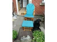 Serena Nursing Glider Maternity Rocking Chair With Stool