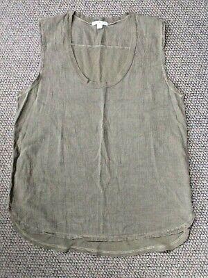 Brand New JAMES PERSE Khaki Green Longline Vest Top Size 3 UK 12