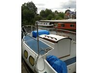 """Unique 22ft Westerly Nomad """"Elsie"""" converted for canal/ river use"""
