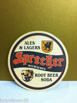 Sprecher Milwaukee Wisconsin root beer soda lagers round coaster coasters 1 Q8 Sprecher Root Beer Soda
