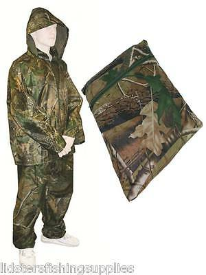 Camo Fishing / Hunting Waterproof Suit OverSuit 2pc Set Trousers + Jacket