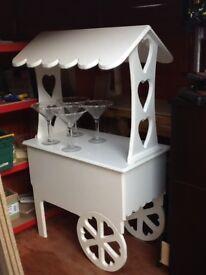 Handmade sweet trolley