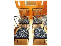 French Colonial Vintage Iron Dining Chairs - Free Delivery