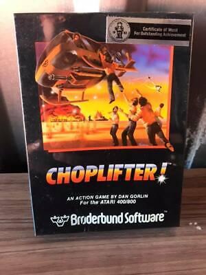 Vintage CHOPLIFTER! game - Atari 400/800 Computer - Factory Sealed