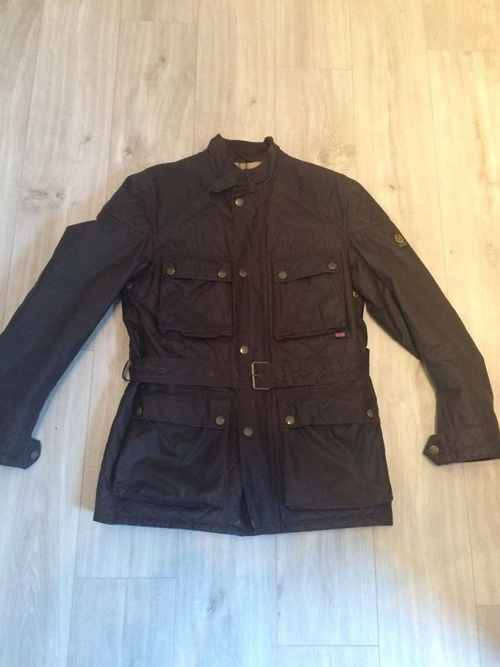 Mens Belstaff in Large Brown Size in Jacket Redford Wax Quilted R7Ura7WS