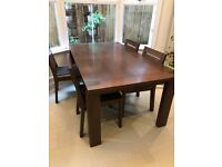 Extendable table, 6 chairs and sideboard for sale