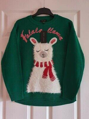 BNWT New Look Women's Fluffy Llama Christmas Jumper Size S