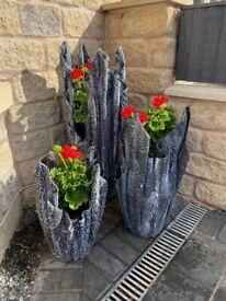Hand-made, Concrete Ornamental Planters