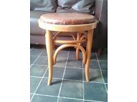 vintage solid wooden stool
