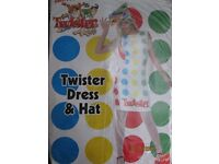 80S TWISTER GAME FANCY DRESS OUTFIT SIZE 12/14 GREAT FOR A PARTY OR HEN DO