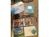 Blue Nintendo DS, many games and charger