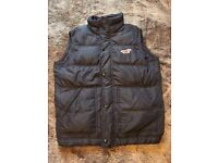 Mens Hollister Quilted Gilet in LARGE - Navy