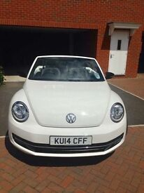 VW Convertible Beetle Sport White 2014