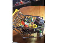 1/12th SCALE FULLY LOADED DOLLS MINIATURE TROLLEY WITH FOOD