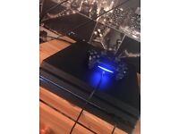 PS4 1tb pro console & controller