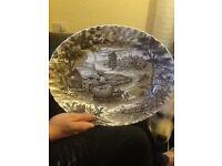Hand ingraved plate