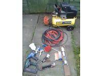 air conpressor and tools