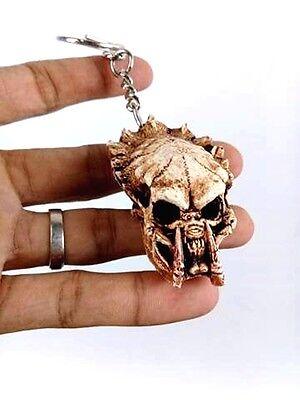 Key chain Predator Skull ring Alien Hunter Horror Figure Pendant Car Biker Gift