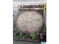 Decorative stone circle for garden