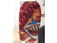 Shark themed body board good condition only used once and no longer needed be a shame to bin it