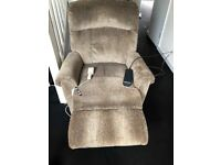 Rising Recliner Chair Electric Great Condition Hardly Used