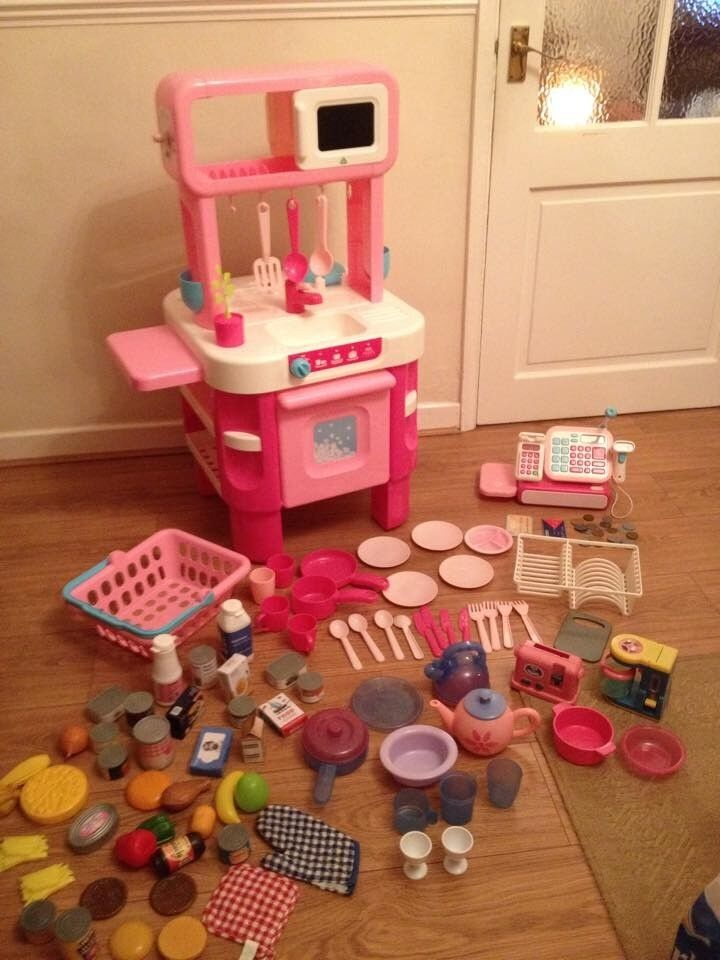 * Early Learning Centre Little Cooks Play Kitchen, Till, Basket etc *