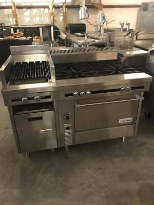 Us Range Cuisine Series Stock Pot Burners W Charbroiler Commercial Range Combo